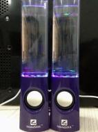 Soundsoul Music Fountain Mini Amplifier Dancing Water Speakers I-station7 Apple Speakers (Blue)