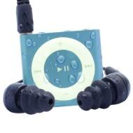 Waterfi 100% Waterproof iPod Shuffle Swim Kit with Dual Layer Waterproof/Shockproof Protection (Purple)