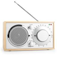 OneConcept Lausanne Boombox stereo radio vintage portatile (Tuner FM, AM, AUX, lavorazioni in legno pregiate) quercia