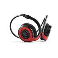 Opteka BTX-3 Wireless Bluetooth 4.0 Sport Jogging Foldable Headphones with Built-in Mic & 6 Hour Battery (Red)