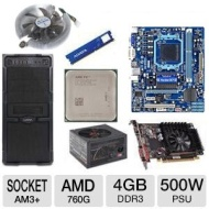 AMD FX-6100 OEM 3.30 GHz AM3+ Unlocked CPU/Gigabyte AM3+ 760G USB3.0 MB/XFX Radeon HD 6570 1GB GDDR3 Video Card/ADATA 4GB DDR3 Memory/Ultra Gladiator