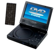 Craig 7-Inch Portable DVD/CD Player with Remote, Black (CTFT716)
