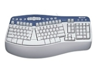 Natural Multimedia Keyboard (Cable - PS/2 - 104 Key - English - Application, Sleep, Calculator, Programmable, My Computer, Email, My Music, My Picture