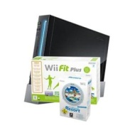 Black Nintendo Wii Console Bundle including Wii Sports + Wii Sports Resort (with Wii MotionPlus) + Wii Fit Plus (with Wii Balance Board)