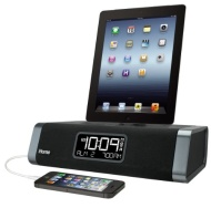 iHome Dual Charging Stereo FM Clock Radio with USB Charging for iPhone/iPod