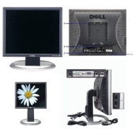 "Dell 17"" UltraSharp 1703FPt Flat Panel LCD Monitor with DVI/VGA/USB Connectors - Height Adjustment & Rotates to Portrait or Landscape View!"