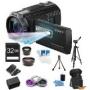 Sony HDR-PJ710V 32GB HD Projector Camcorder 24.1 MP still with Geotagging Bundle