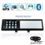 4.3 Inch Bluetooth Rearview Mirror GPS Navigator with Wireless rearview camera GPS43MC whole Europe map