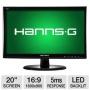 "HannsG HL203DPB 20"" Class LED Backlit Monitor - 1600 x 900, 16:9, 30000000:1 Dynamic, 5ms, DVI, VGA, Energy Star HL203DPB"