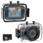Foxnovo® 123S 2.0-inch Touch Screen 10M Waterproof Sports Digital Camera DV Camcorder with 32GB Micro SD/TF Card (Black)