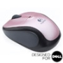 V220 Flamingo Pink Cordless Optical USB Mouse - Designed for Dell
