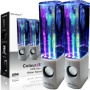 iBoutique ColourJets USB Dancing Water Speakers for PC/Mac/MP3 Players, Mobile Phones/Tablets - Ice White