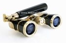 Milana Optics - Opera Glasses - Symphony - With Handle - Black Finish with Golden Rings