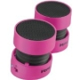 iHome iHM78PX Rechargeable Mini Speakers (Pink)