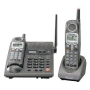 Panasonic KX-TG2357PK 2.4 GHz DSS Cordless Phone with Dual Handsets, Answering System, and Talking Caller ID (Silver) with Bonus Headset Included