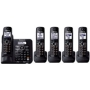 Panasonic - Expandable Digital Cordless Answering System with 5 Handsets