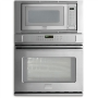 "Frigidaire Professional 27"" Single Electric Convection Wall Oven with Built-In Microwave - Stainless"
