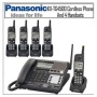 Panasonic KX-TG4500 4 Line Cord / Cordless Phone Base With 5 Handsets Bundle
