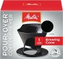 Melitta Coffee Maker, Single Cup Pour-Over Brewer, Black (Pack of 8)