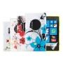 kwmobile® 5in1 Set: 4x CUSTODIA IN TPU silicone per Nokia Lumia 1020 Fantasia floreale + Pellicola, cristallino - Custodia di design alla moda in morb