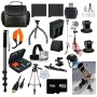 Gopro Everything You Need Package for GoPro Hero4 Kit Includes: Outdoors Kit with Arm Mount & Flat Surface Mount + Head Strap + Tripod + Monopod + 2 e