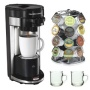 Hamilton Beach 49995 FlexBrew Single Serve Coffeemaker + Coffee Pod Stand + Stoneware Coffee Mug Set