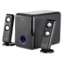 "Compucessory 2.1 Portable Speaker System,18 Watts,3.5mm,4"" Woofer,Black"
