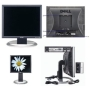 """Dell 17"""" UltraSharp 1703FPt Flat Panel LCD Monitor with DVI/VGA/USB Connectors - Height Adjustment & Rotates to Portrait or Landscape View!"""